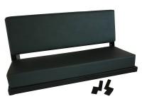 2 men bench seat - BLACK POWDER COATED FRAME