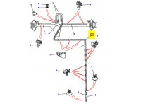 Rear brake pipe - from 1995