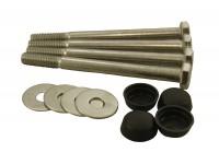 Stainless steel bumper fixing kit - Defender