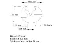 Window glass seal - price per meter