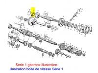 Front output shaft bearing
