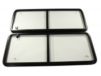Fenêtres latérales assemblées 106x42.8cm - paire