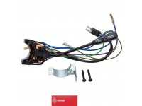 Headlamp, flasher, horn, switch stalk assembly