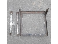 Pair seat slides with adjuster & frame - used