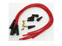 Kit fils de bougie silicone 4 cyl. - rouge