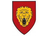 Autocollant armée belge - fond rouge