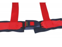 Safety harness 4 point red - E-Marked