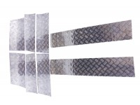 Panneaux de protection bas de carrosserie 2mm argenté - Disco 1