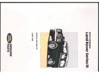 Parts Catalogue Series III