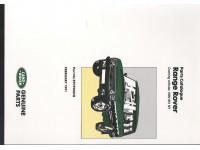 Manuel pièces détachées Range Rover Classic 1986-1992 - En anglais