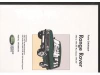 Manuel pièces détachées Range Rover Classic 1992-1995 - En anglais