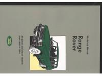 Manuel d'atelier Range Rover P38 1990-1994