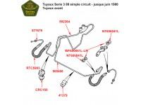 "Brake pipes Serie 3 88"" - single line system"