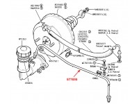 """Brake pipe master cyl. Serie 3 109"""" with servo - simple line"""