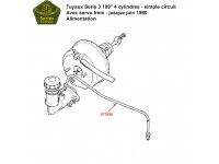 """Brake pipes Serie 3 109"""" 4 cyl. - single line system - with servo"""