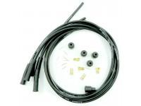 Kit fils de bougie silicone 4 cyl. - noir