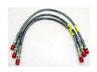 Brake hose kit S/steel braided + 50mm - Serie 3 up to june 1980